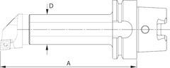 Расточной держатель виброгасящий HSK-T