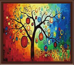 Дерево счастья - картина со стразами, CKC224