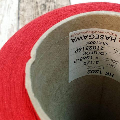 Шелк 100% HASEGAWA 2/120 красный