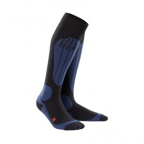 Для занятий спортом Компрессионные гольфы CEP для катания на лыжах и сноуборде cep_ski_thermo_socks_black_deep_blue.jpg
