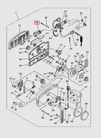 Жгут проводов газ-реверс для лодочного мотора T40 Sea-PRO (28-49)