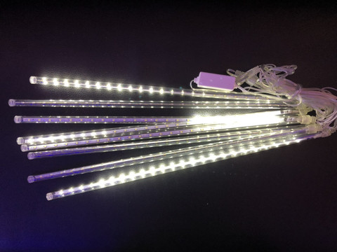 Паличка Сосулька гірлянда 3.5 м. на 30 см. тепло-біла