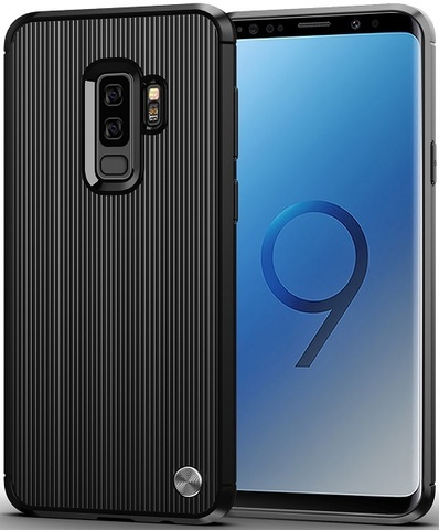 Чехол Samsung Galaxy S9 Plus цвет Black (черный), серия Bevel, Caseport