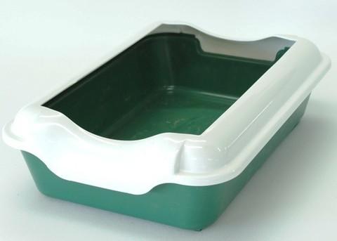 HOMECAT туалет для кошек с бортиком зеленый 37х27х115 см