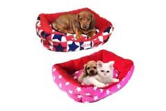 Прямоугольный лежак для животных Британский флаг, 40х32х10 см