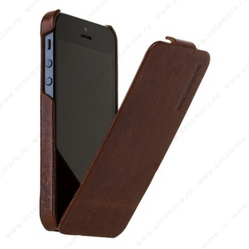 Чехол-флип Borofone для iPhone SE/ 5s/ 5C/ 5 - Borofone General flip Leather Case Coffee