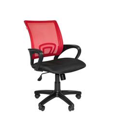 Кресло VT_EChair-304 ткань черн TW11/сетка красн,DW69 пласт.