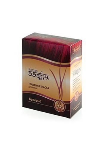 Травяная краска для волос Бургунд, 60 г Aasha