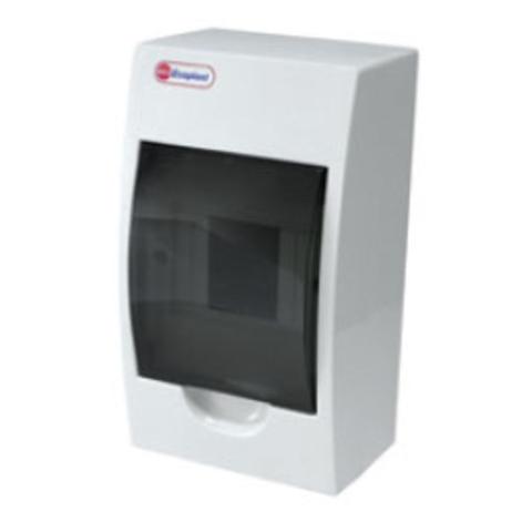 Щит распределительный на стену, на 4 модуля 200х113х95мм IP40. Ecoplast (Экопласт). 46104