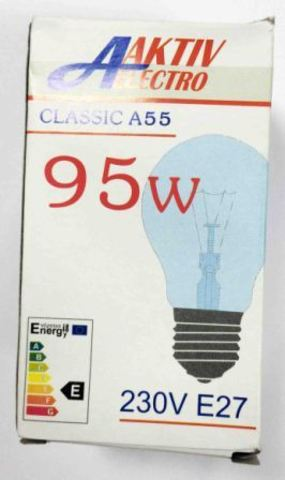 Лампа накаливания Б-230-95-1 95Вт Е-27 Aktiv-Electro груша
