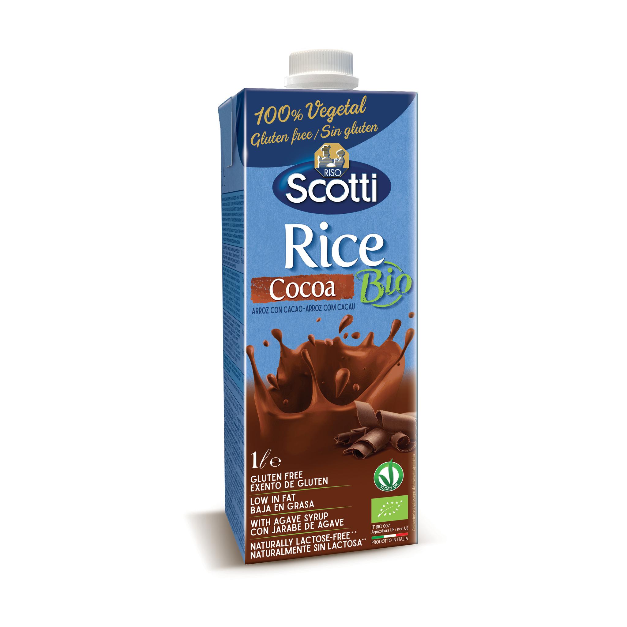 Органический рисовый напиток с какао 1л
