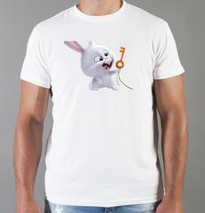 Футболка с принтом мультфильма Тайная жизнь домашних животных ( The Secret Life of Pets) белая 007