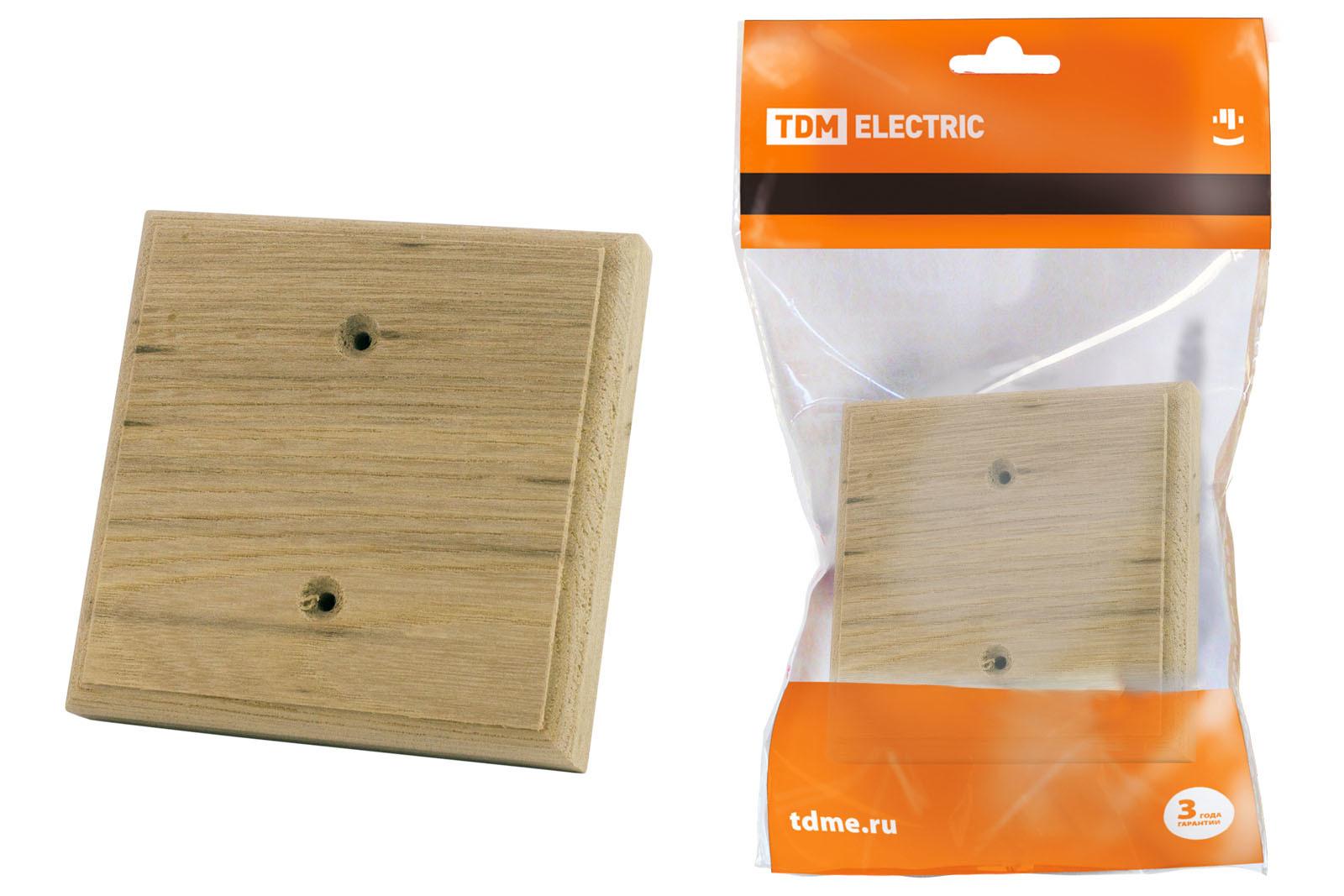 Накладка на бревно деревянная универсальная НБУ 1П 95х95 мм, под покраску TDM