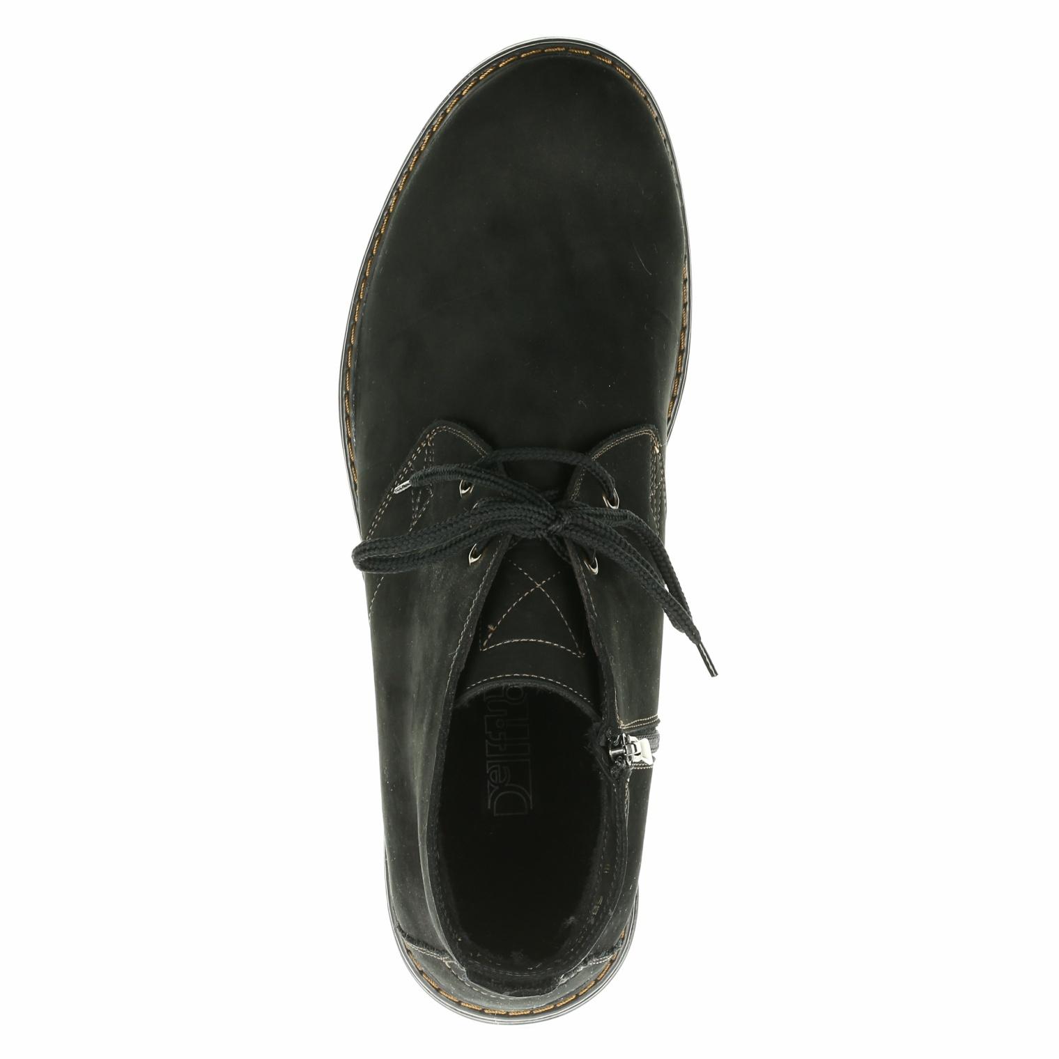 566483 ботинки мужские черные байка больших размеров марки Делфино