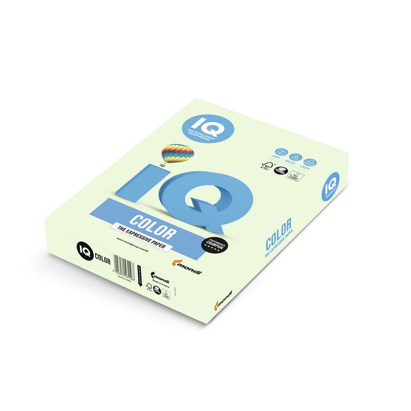 Бумага цветная для офисной техники IQ Color светло-зеленая GN27 (А4, 80 г/кв.м, 500 листов)