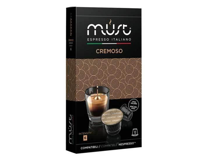 Кофе в капсулах Must Cremoso, 10 капсул для кофемашин Nespresso (Маст)