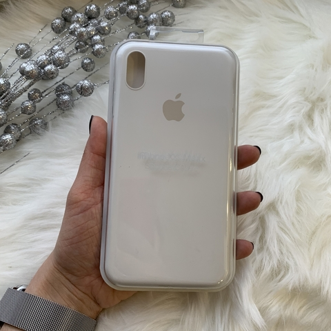Чехол iPhone XS Max Silicone Slim Case /white/
