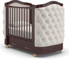 Кровать детская Тиффани декор стразы махагон