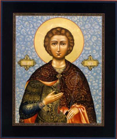 Икона святой Уар на дереве на левкасе мастерская Иконный Дом
