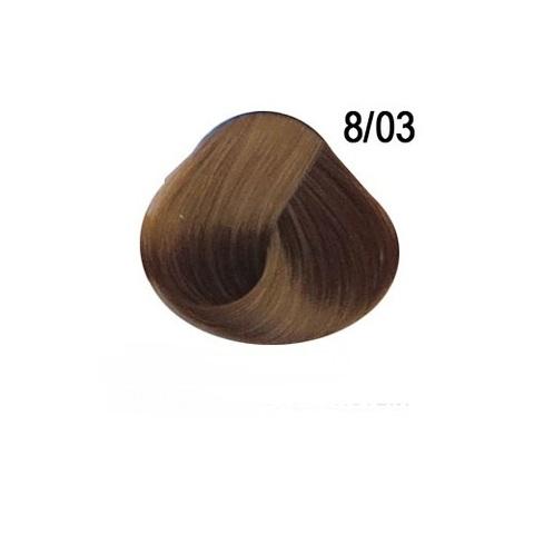 Перманентная крем краска для волос Ollin 8/03 светло русый прозрачно золотистый