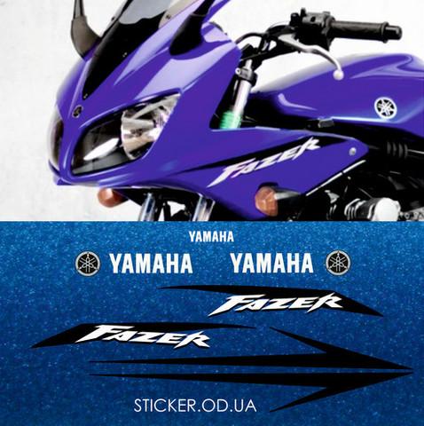 Набор виниловых наклеек на мотоцикл YAMAHA FZS600 FAZER 2002
