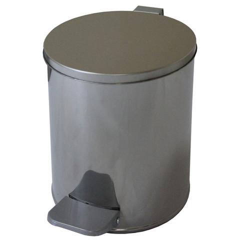 Урна стальная 7 л хром, 200 ммx230 мм