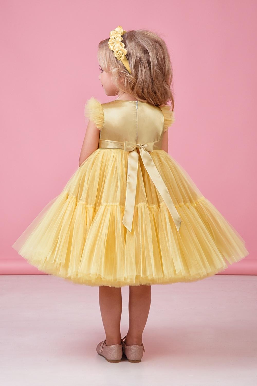 Платье золотистое для девочки 38-9002-3