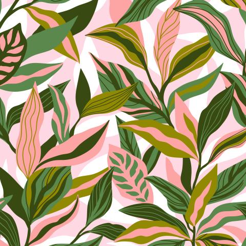 Весенние листья. Абстрактный паттерн.