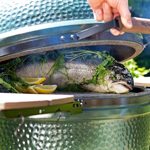 Керамический гриль Big Green Egg М Medium
