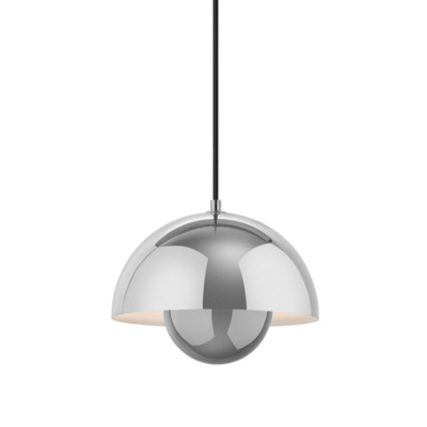 Подвесной светильник копия Flowerpot by Verpan Panton (серебряный)