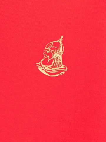 Джемпер с V воротом красного цвета