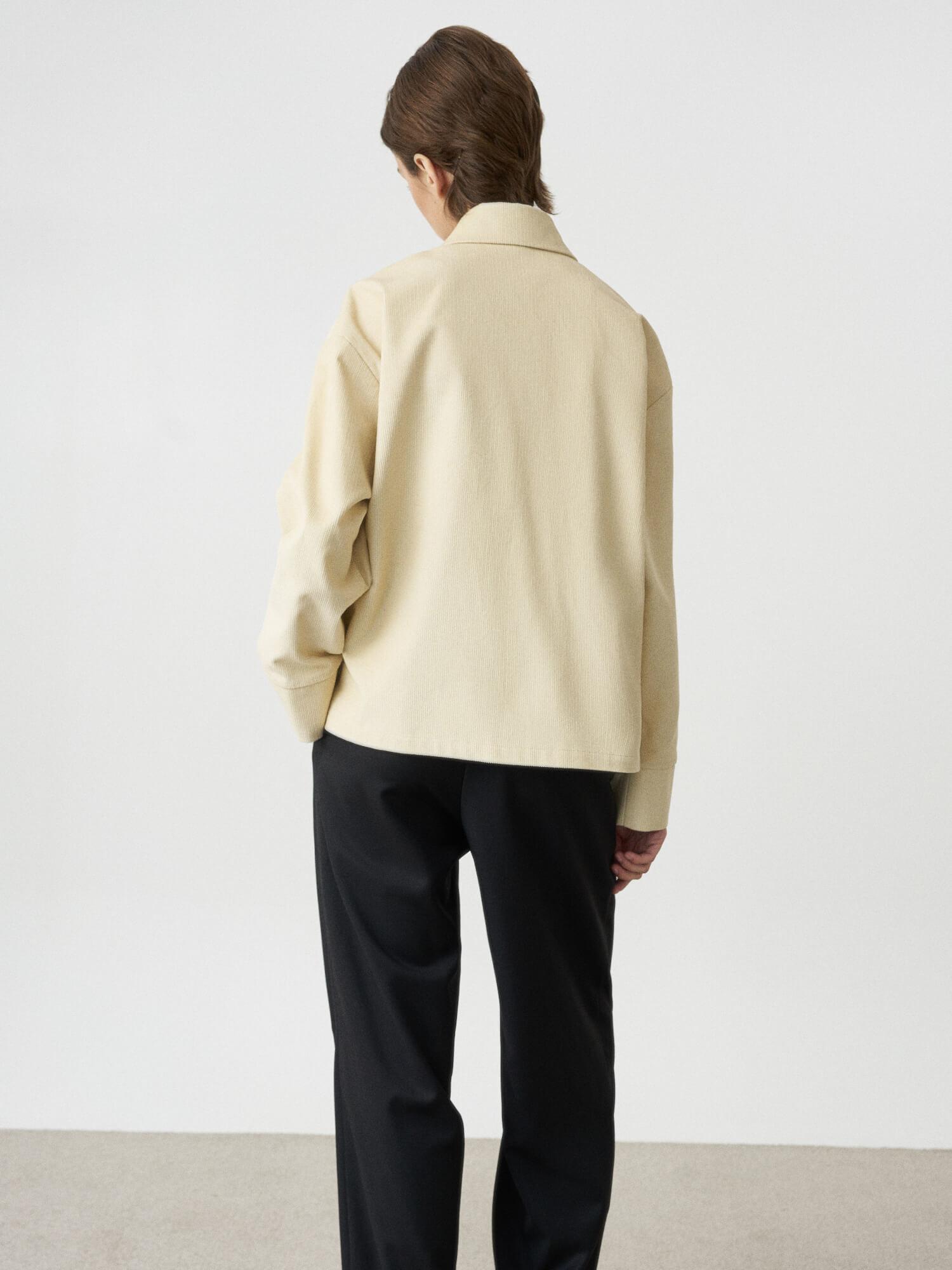 Рубашка Edna с большими карманами, Молочный
