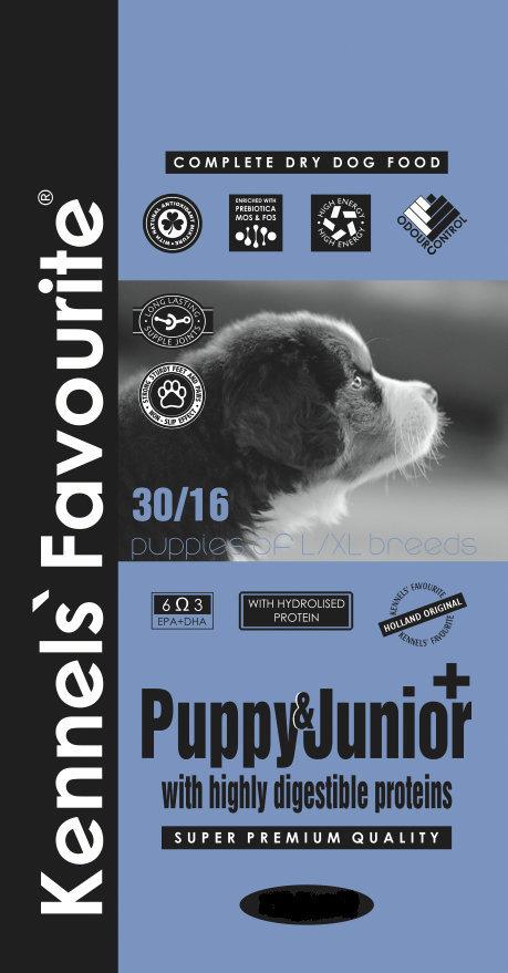 Сухой корм Корм для крупных щенков Kennels' Favourite Puppy & Junior+ 9.970.jpg