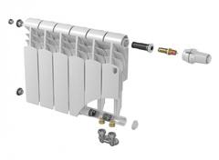 Биметаллический радиатор с нижним правым подключением Vittoria 350 VD - 12 секций