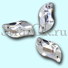 Стразы пришивные стеклянные S Shape Crystal, С Шэйп Кристал, прозрачный яркий на StrazOK.ru
