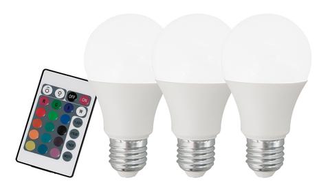 Лампа RGB LED диммир. с пультом ДУ Eglo RGB-W INFRARED LM-LED-E27 3X7,5W 470Lm 3000K RGBW-A60 10681