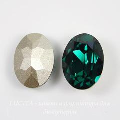 4120 Ювелирные стразы Сваровски Emerald (18х13 мм)
