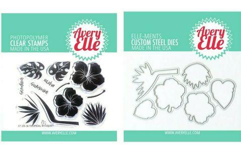 Штампы + координирующие  ножи Tropical Bouquet
