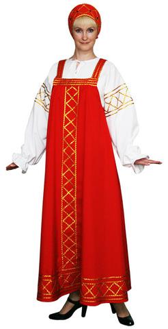 Русский народный костюм Ольга красный