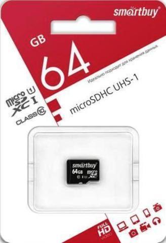 micro SDXC карта памяти Smart Buy 64GB Class10