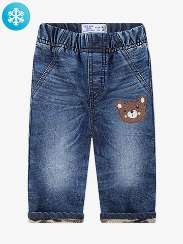 BWB000117 джинсы для мальчиков утепленные, медиум дарк