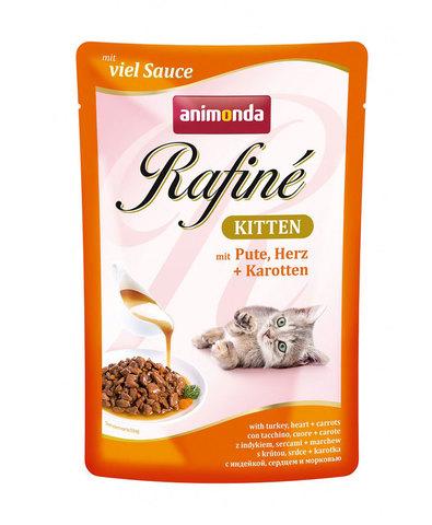 Animonda Rafine Kitten пауч для котят (с индейкой, сердцем и морковью) 100г