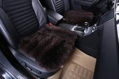 Подушка на сиденье из натурального меха (Овчина, длинный ворс, цельная шкура, Австралия)