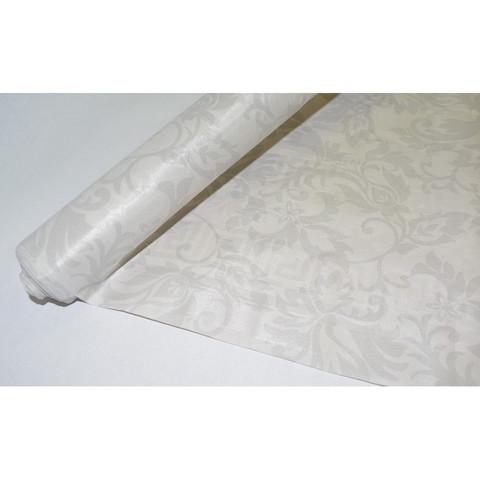 Скатерть одноразовая Vitto Prestige бумажная с полимерным покрытием в рулоне 120 см x 7 м белая