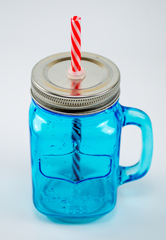 Баночка для смузи и коктейлей, голубая, фото 3