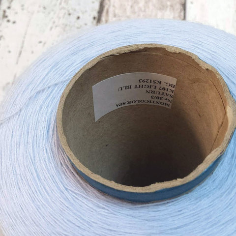 Хлопок 100% MONTIICOLOR 30/3 светло-голубой