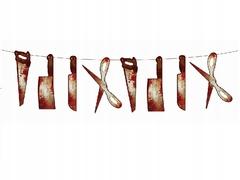 Гирлянда  Ножи кровавые 200 см х 30 см, 1 шт.