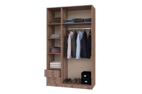 Шкаф 3-х створчатый с ящиками БТС Венге/лоредо