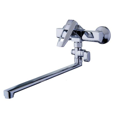 Смеситель для ванной однорычажный Zegor NOF6-A033 с поворотным изливом