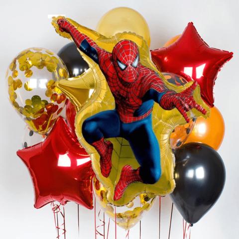 Фонтан из шаров Человек-паук в прыжке